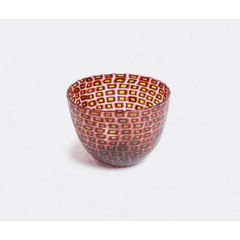 Venini Vases - 'Murrine Romane' Vase, Numbered Edition In Multicolour Murano Blown Glass