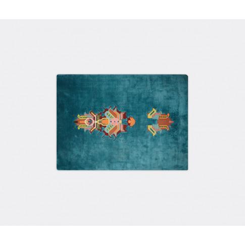 Cc-Tapis Rugs - 'Mothership' Rug In Multicolor Himalayan Wool, Silk
