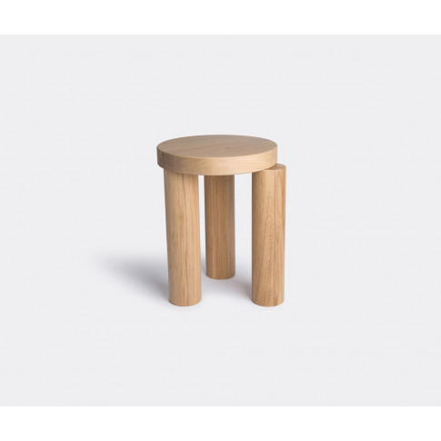 Resident Furniture - 'Offset' Stool In Natural Oak