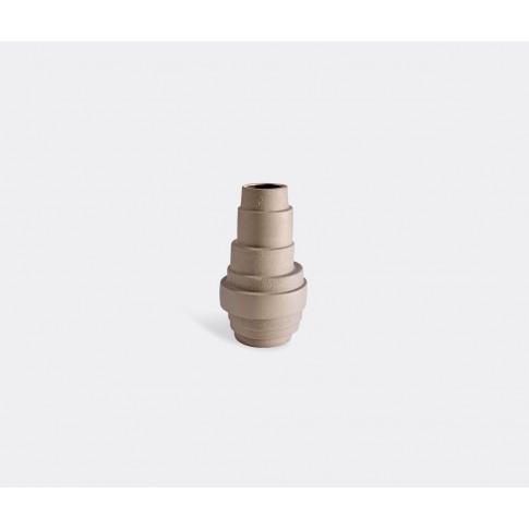 Atipico Vases - 'Pila' Vase, Large In Brown Gres