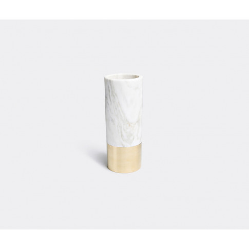 Michael Verheyden Vases - 'Duet' Marble Vase In Whit...