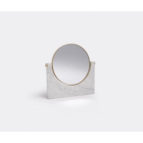 Menu Mirrors And Clocks - 'Pepe' Marble Mirror, Whit...