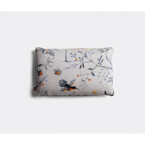 Poltrona Frau Textile And Wallpaper - 'Decorative Cushion' In Leo De Janeiro - Smoke Embers 100% Linen