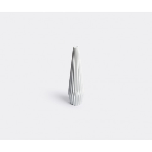 Hands On Design Vases - 'Pliage' Vase In White Arita...