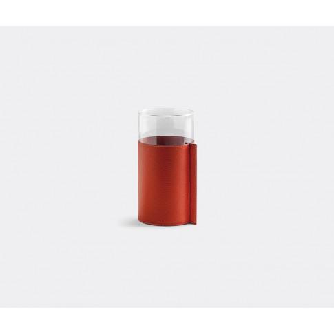 Poltrona Frau Vases - Leather Pot, High In Orange Gl...