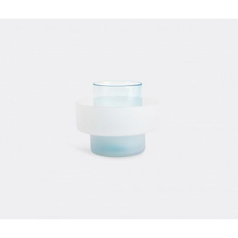 Xlboom Vases - 'Benicia Vase Three', White And Blue In White, Blue Glass