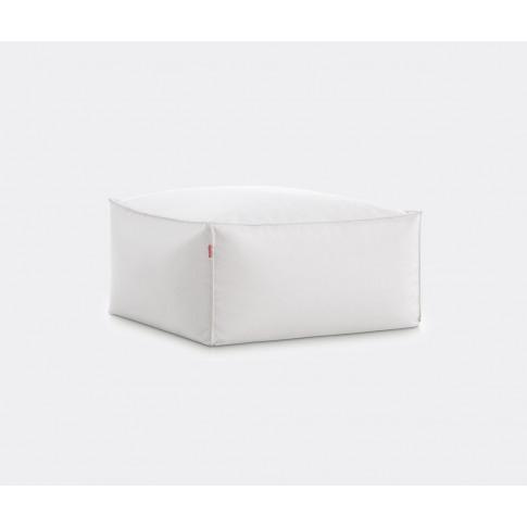 Diabla Seating - 'Sail Square' Pouf In White Outdoor...