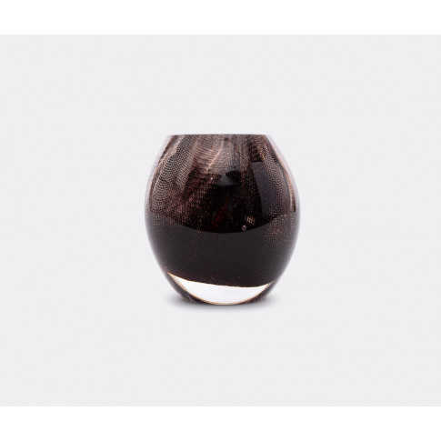 Oao Works Vases - '84.2' Vase, Short, Dark Brown In ...
