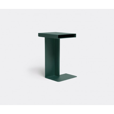 Nomess Furniture - 'Radar' Side Table, Green In Green Powder Coated Metal