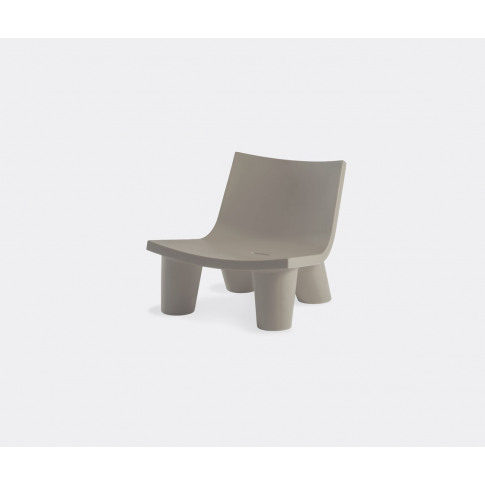 Slide Seating - 'Lita' Armchair, Low In Dove Grey Po...