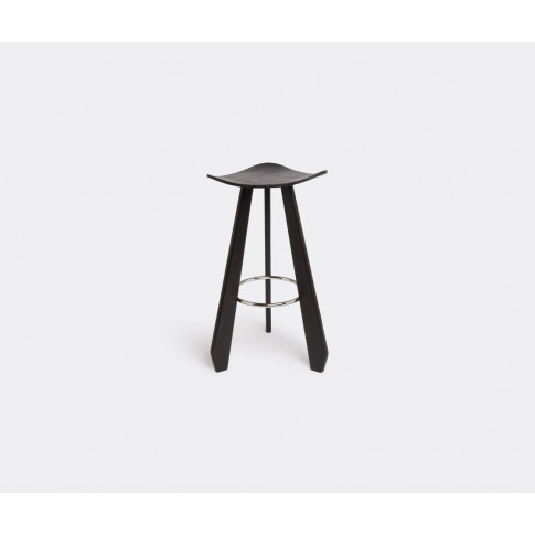 Dante - Goods And Bads Seating - 'The Third' Stool Anthracite, Large In Anthracite Solid And Plywood Beech, Stain