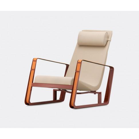 Vitra Furniture - 'Cité' Armchair In Beige, Red Meta...
