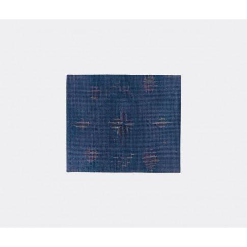 Golran 1898 Textile and Rugs - 'Tumulte' dark blue i...