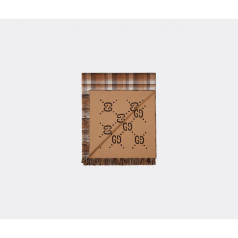 Gucci Textile And Rugs - Blanket, Brown In Camel, Br...