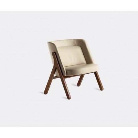 Poltrona Frau Seating - 'Ren' Armchair In Beige Upho...