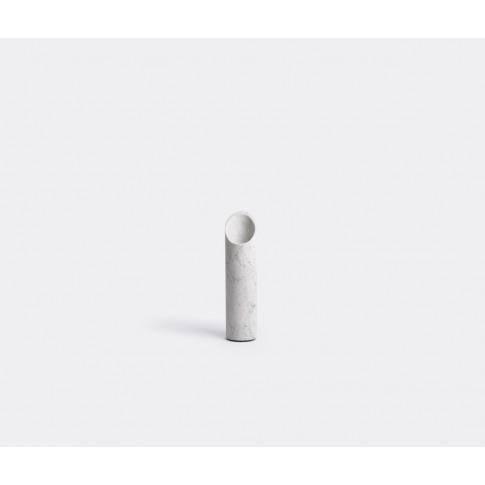 Scandola Marmi Vases - 'Bamboo' Vase, Medium In Whit...