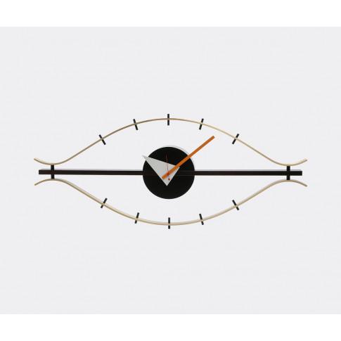 Vitra Mirrors And Clocks - 'Eye' Clock In Walnut/Bra...