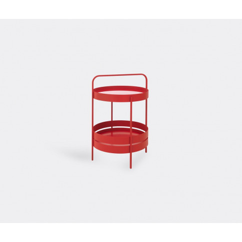 Schönbuch Furniture - 'Albert' Side Table, Red In Po...