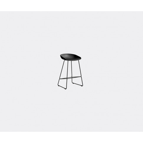 Hay Seating - 'About A Stool Aas 38', Low In Black Polypropylene/Steel Powder Coa
