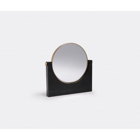 Menu Mirrors And Clocks - 'Pepe' Marble Mirror, Blac...