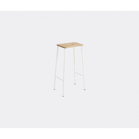 Frama Seating - 'Adam' Stool, L, Oak And White In Oa...