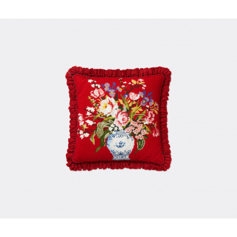 Gucci Textile and Rugs - 'Flowers vase' cushion in R...