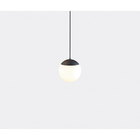 Tobias Grau Lighting - 'Palla' Pendant Light, Small, Black In Black Aluminium, Opal Glass