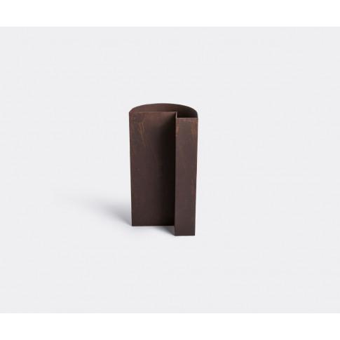 Serax Vases - 'Fck' Vase In Rust Brown Steel