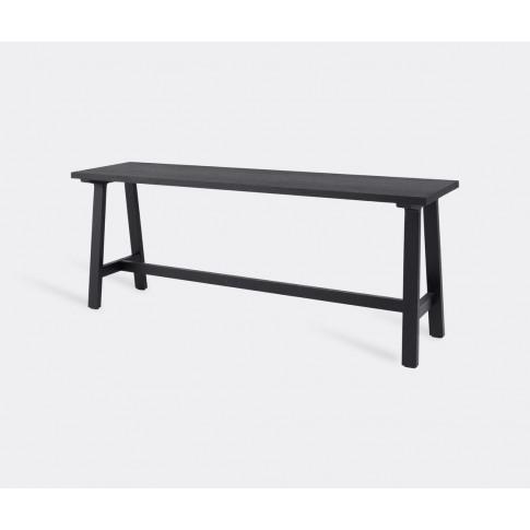 Schönbuch Seating - Wide 'Alma' Bench, Black In Blac...