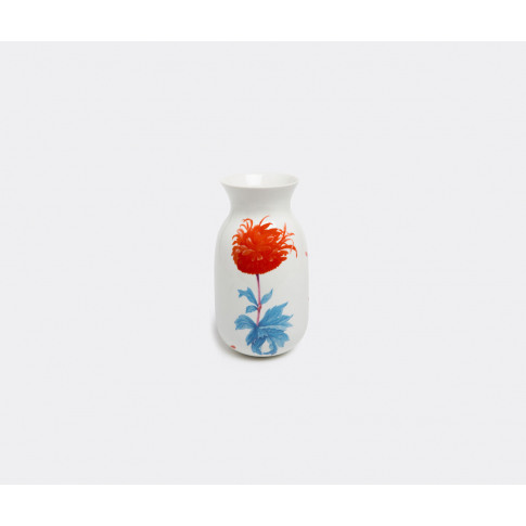Krehky Gallery Vases - 'Our Flora Peony' Vase In White, Multicolour Porcelain