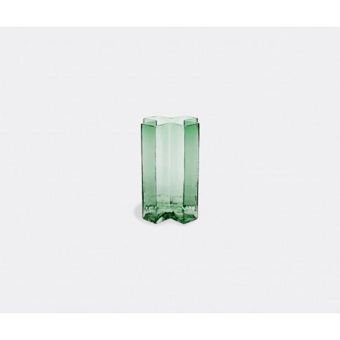 Holmegaard Vases - 'Crosses' Vase Green, Medium In G...