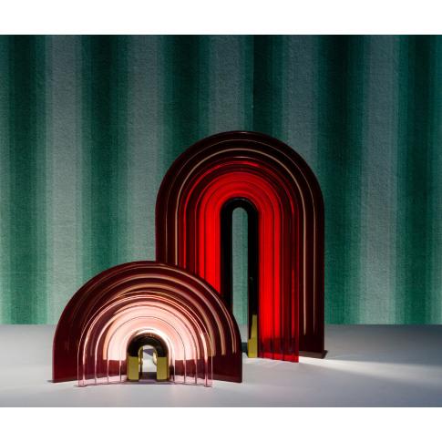 Preciosa Handmade - 'Chromo' table lamp red, large E...