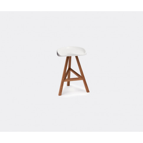 Established & Sons Seating - 'Heidi' High Stool, Small In White Seat Is Heat-Formed Acrylic, P