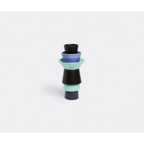 Bitossi Ceramiche Vases - 'Zanini' Vase In Multicolour Ceramics