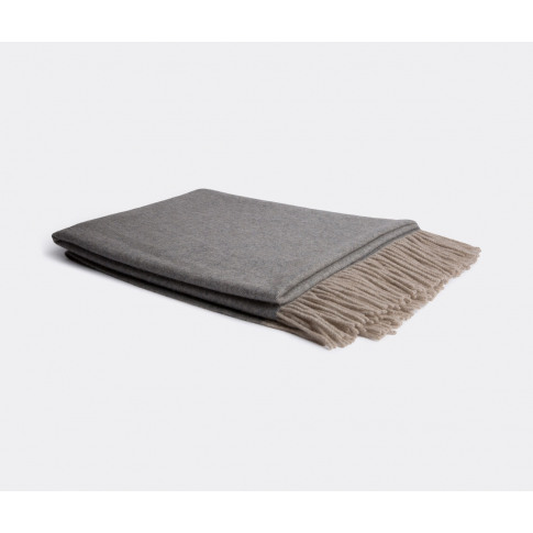 Oyuna Textile And Rugs - 'Uno' Throw In Grey, Taupe ...