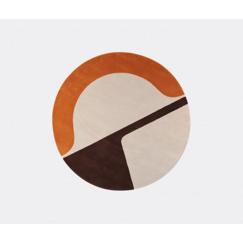 Amini Carpets Rugs - 'Isola' Rug, Orange In Orange Wool