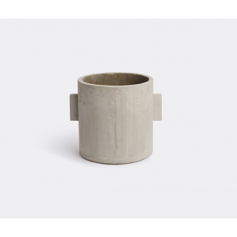 Serax Vases - Concrete round pot, grey in Grey Concrete