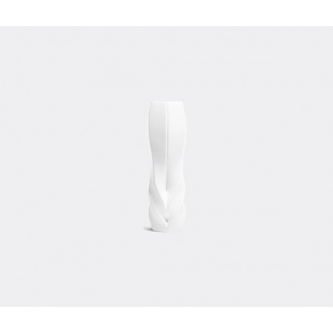 Zaha Hadid Design Vases - 'Braid' Vase, Tall In White Porcelain