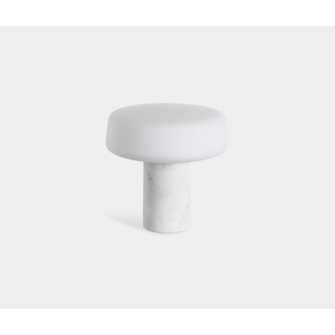 Case Furniture Lighting - 'Solid Table Light', Carrara Marble, Small In Carrara Marble Carrara Marble