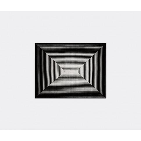 Illulian Rugs - 'Rehab' Rug In Black, White Wool, Silk