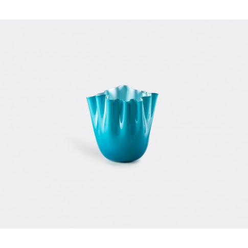 Venini Vases - 'Fazzoletto Opalino' Vase, M, Horizon...