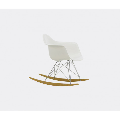Vitra Seating - 'Plastic Armchair Rar' In White, Chr...