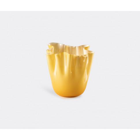Venini Vases - 'Fazzoletto Opalino' Vase, L, Amber I...