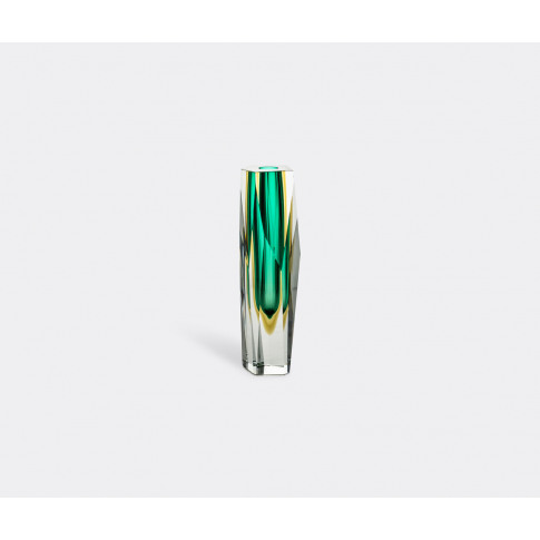 Venini Vases - 'Pentagono' Vase, Green In Green Glass