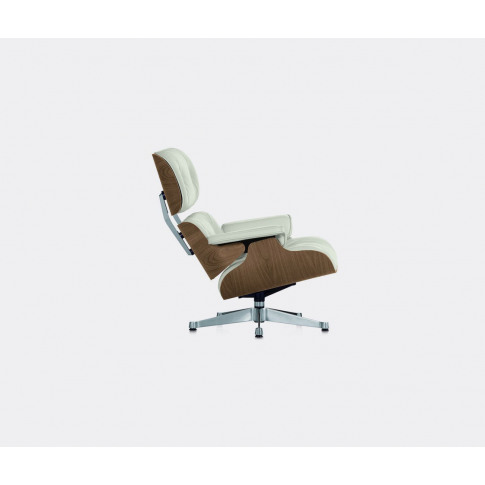 Vitra Seating - 'Lounge Chair', Walnut And White In ...