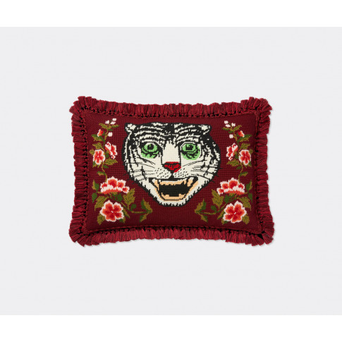 Gucci Textile And Rugs - 'Tiger' Needlepoint Cushion...
