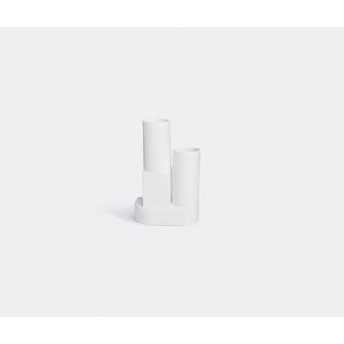 Tom Dixon Vases - 'Block' Vessel In White Ceramic