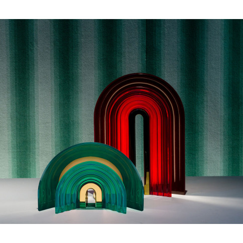 Preciosa Handmade - 'Chromo' table lamp green, small...