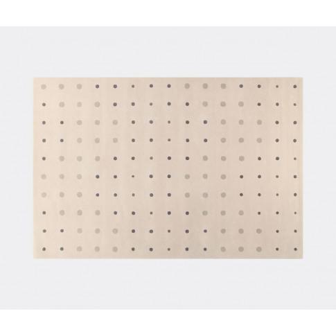 Amini Carpets Rugs - 'Bubbles' Rug, Cream In Cream Wool