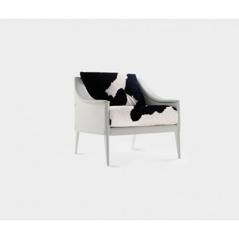 Poltrona Frau Seating - 'Dezza 24' Armchair In White + Cavallino Upholstery: Pelle Frau®Colorsp